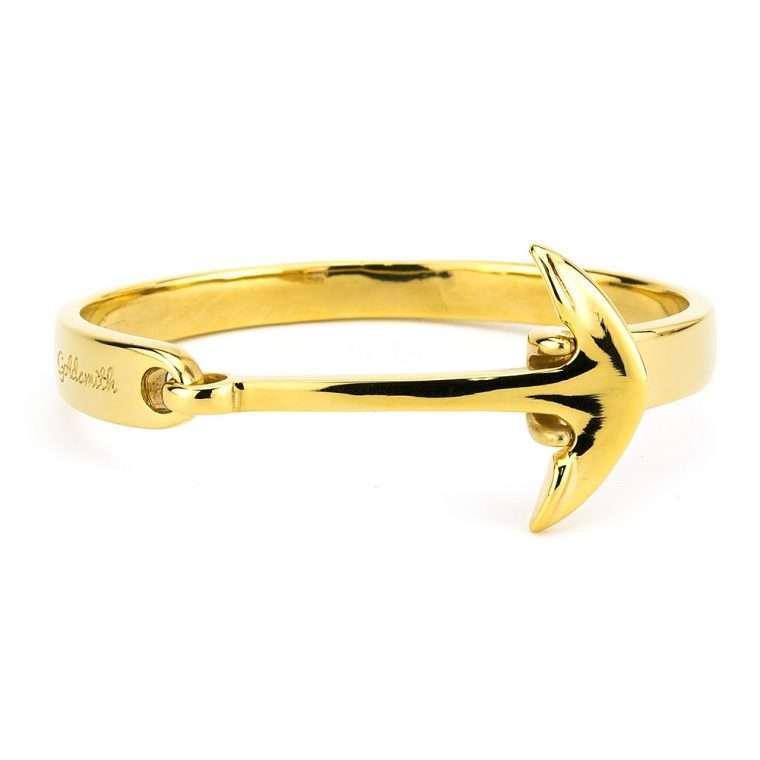 Χειροπέδα Anchor Goldsmith stainless steel Gold for men
