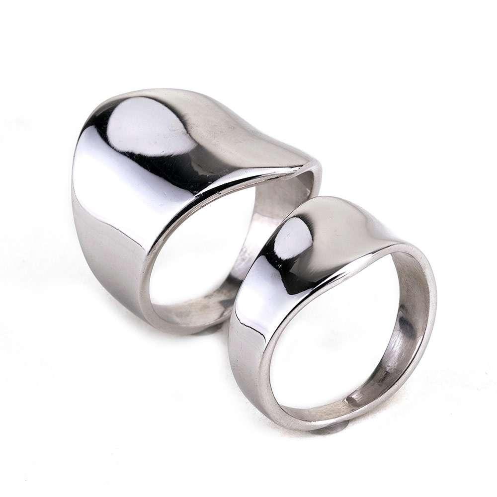 Ασημένιο ζευγάρι δαχτυλίδια σωλήνας κυματιστος Νο 2.  e054e4a2d20